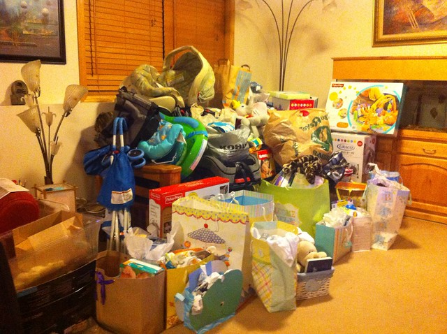Baby stuff taking over our basement!!