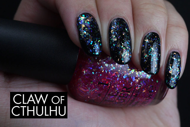 OPI I Lily Love You Swatch (over Quo by Orly Little Black Dress)