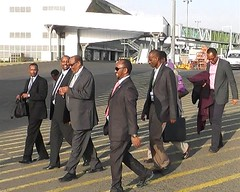 Somaliland president with his delegate on there way to Istanbul Turkey