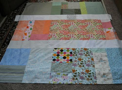 granny square quilt back