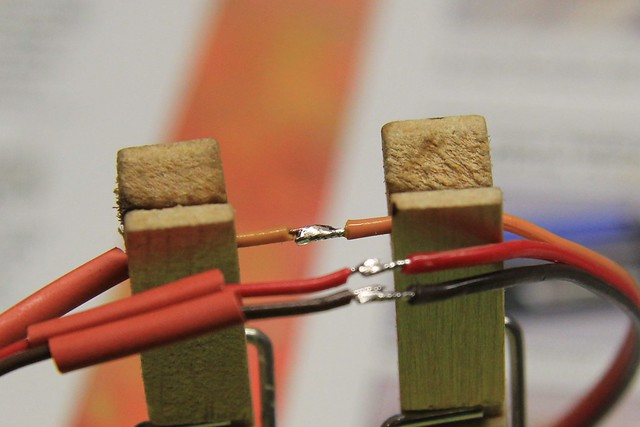 Signal wire spliced