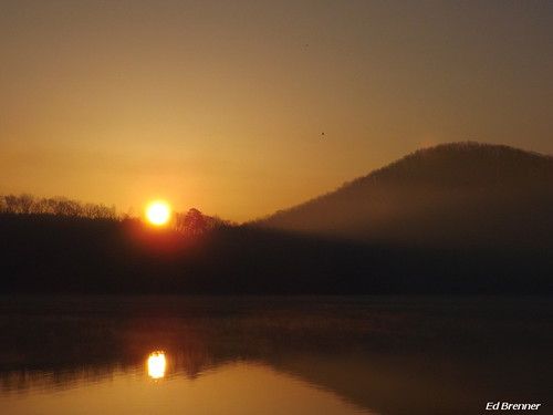 mountain lake water sunrise daylight northcarolina rowancounty
