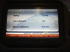 Première partie du vol : Auckland - Melbourne