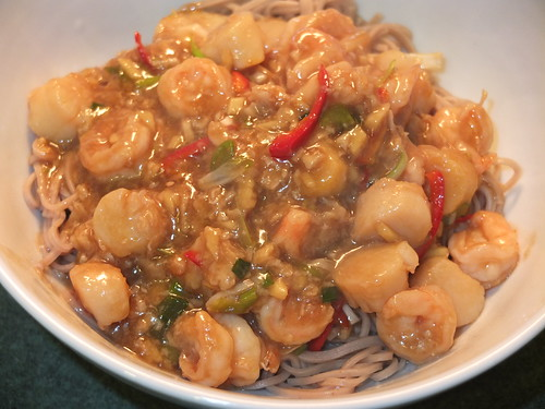Sweet and sour seafood with soba noodles by La belle dame sans souci