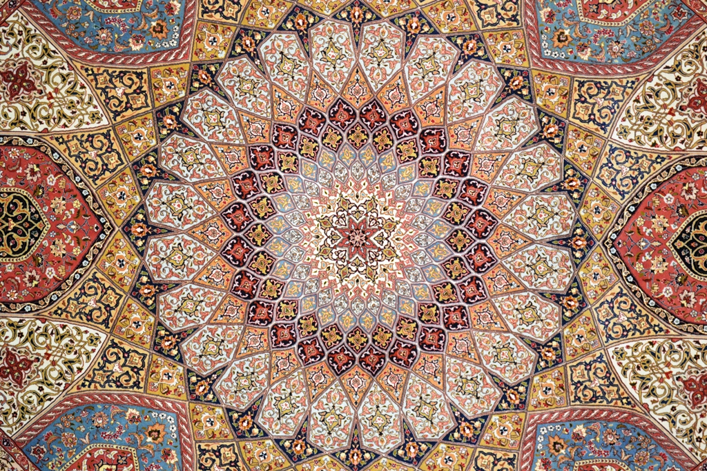 Gonbad Royalty Silk Persian Rug Item 1