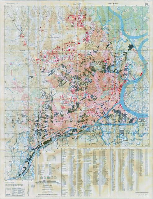 Bản đồ SAIGON 1968