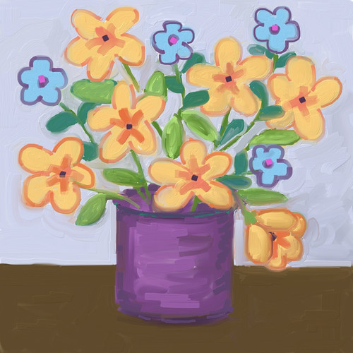 Fast Flowers (Digital Impasto) Day 2 by randubnick