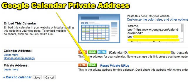 Google Calendar Private Address-1