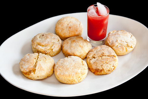 Homemade goose fat biscuits