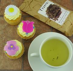 Easter Cupcake and Sencha Tea