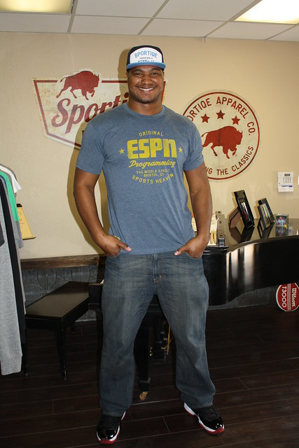 Calais Campbell in ESPN Programming Shirt By Sportiqe