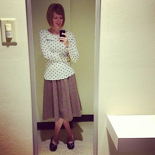 Spots and tweed. #ootd #9to5
