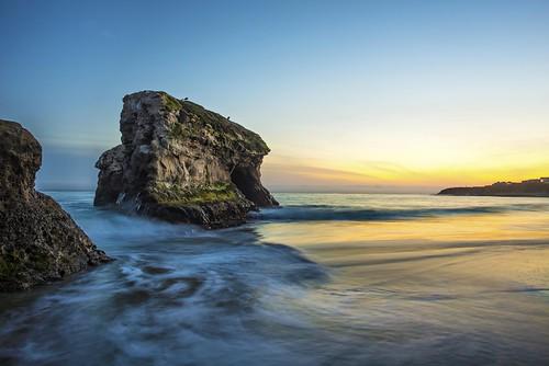 ocean california sunset santacruz beach day pacific clear naturalbridgesstatebeach