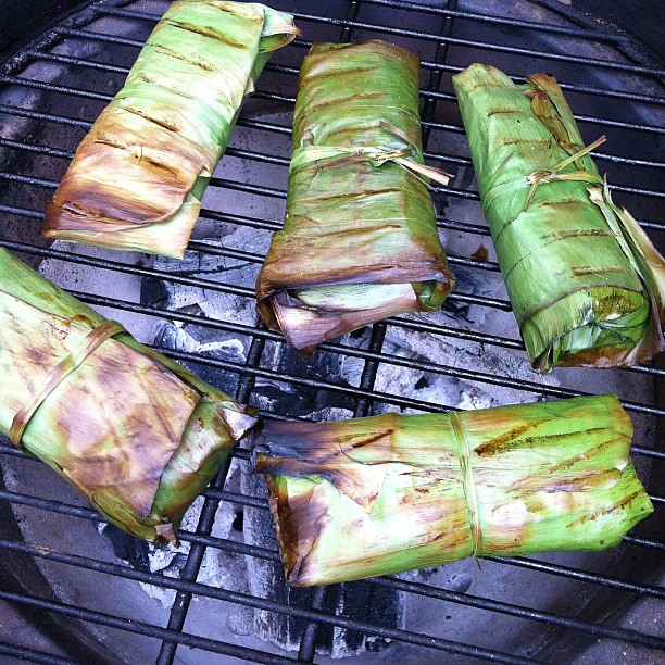 leaf recipe fish grill banan leaves grilled whole fish on banana leaf ...