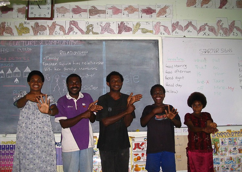 Learning Sign Language - Callan Services - PNG
