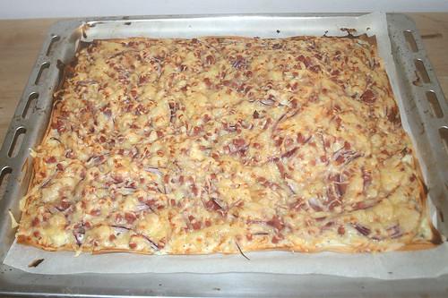 15 - Flammkuchen aus Filoteig / Tarte flambé with phyllo pastry - Fertig gebacken
