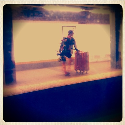 Today we saw a clown getting the train at lorimer st metro. One of those days...