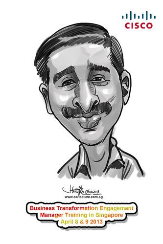 digital caricature for Cisco - 14
