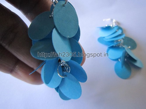 Handmade Jewelry - Paper Punch Earrings (Oval) (5) by fah2305