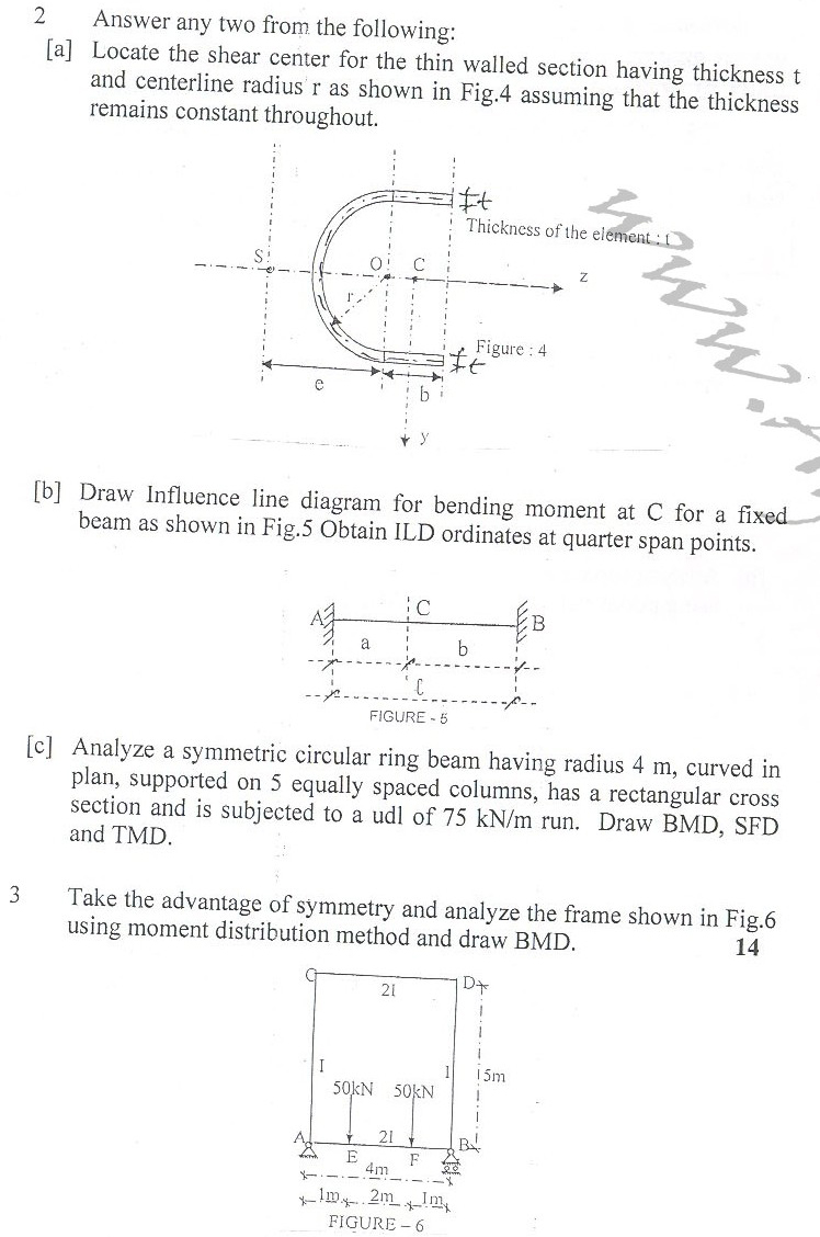 DTU Question Papers 2010 – 6 Semester - End Sem - CE-313