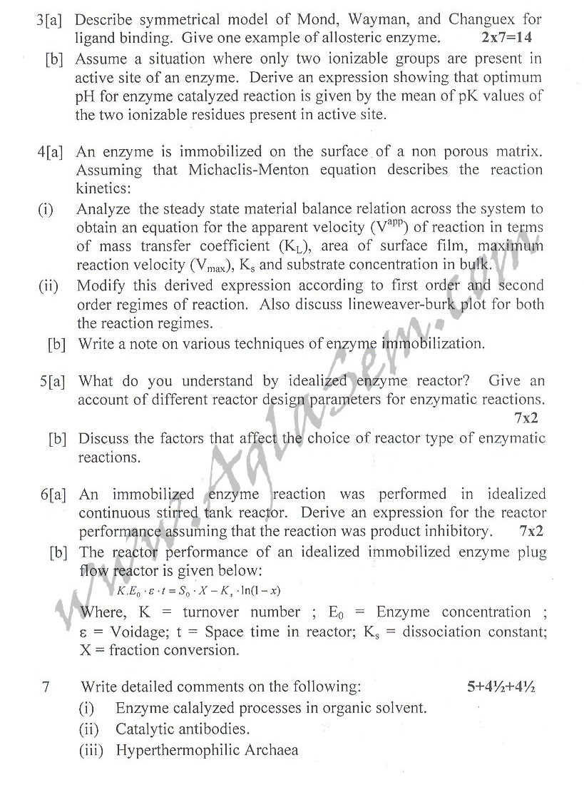 DTU Question Papers 2010 – 6 Semester - End Sem - BT-312