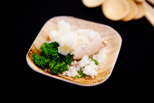 Parsley Cake, Fennel-Black Garlic Gelato, and Meyer Lemon Granita by Katy Peetz of Blanca