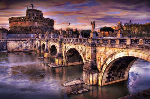 Sunset At Castel Sant' Angelo