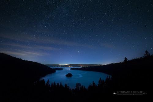 california silhouette night stars landscape laketahoe predawn emeraldbay rokinon14mmf28 nikond800e