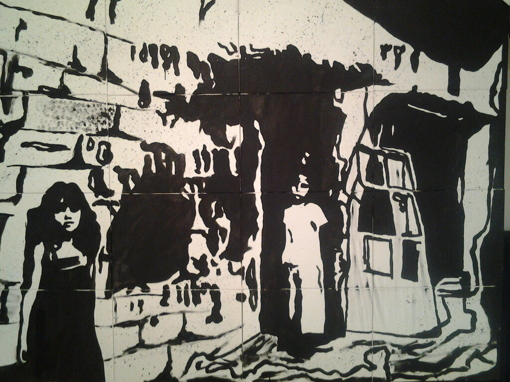 acryl painting 2x 1.50 mtr