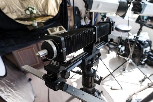 Nikon Marco Rig PB-6 + PB-6E + Microscope Objective