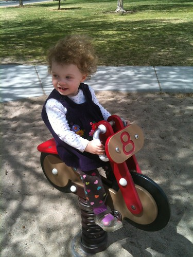 Rosie on Bike -2Y, 9 mo