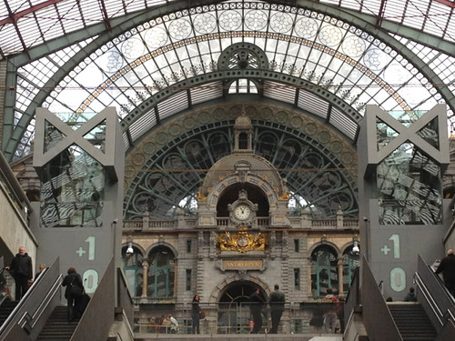 Antwerp station clock