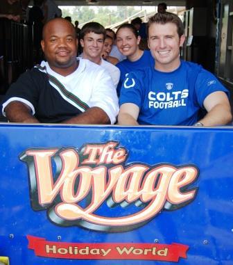 Colts' Gary Brackett rides The Voyage
