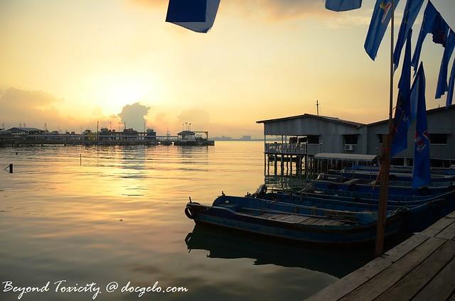 sunrise, chew jetty, george town, penang, malaysia