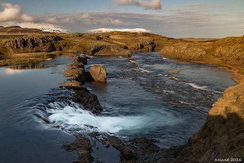 tröllfossar iceland waterfall river grímsá grimsa landscape