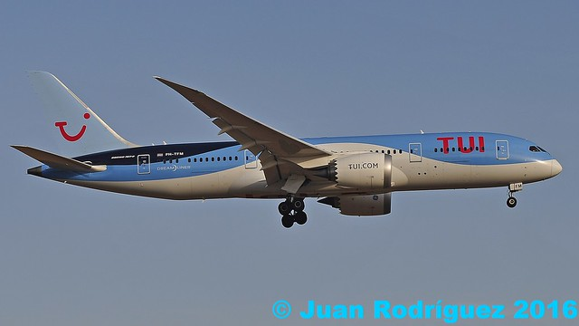 PH-TFM - TUI Airlines Netherlands - Boeing 787-8 Dreamliner - PMI/LEPA
