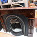 Mahogany framed fireplace