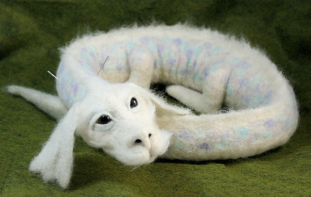 Falcor - commissioned needle felted chinese style dragon