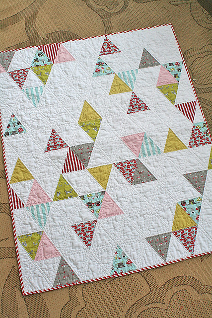 Baby Quilt Patterns With Triangles : Triangle Baby Quilt Freshly Pieced