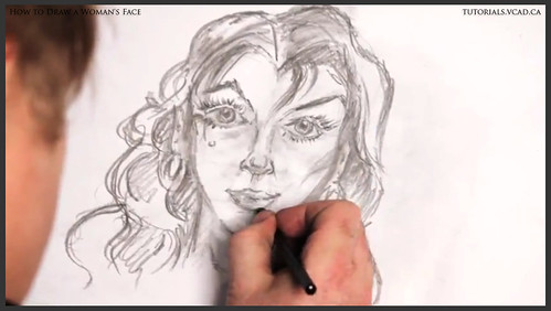 learn how to draw a womans face 024