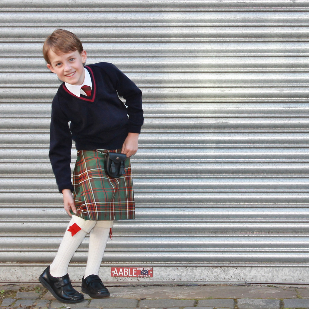 Scottish schoolboy uniforme