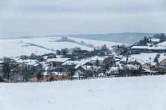 Le village de Moncheux sous la neige
