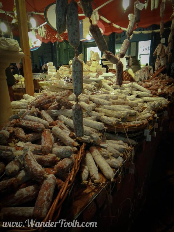 Italian Sausage at Milan Christmas Market