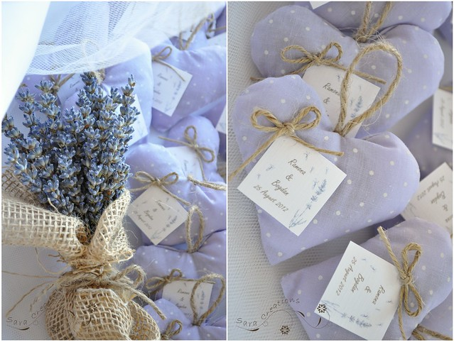 hearts lavender favors