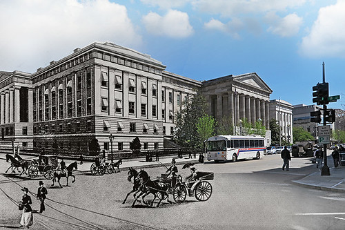 Historical Photomerge of the Old Patent Office, Washington D.C.