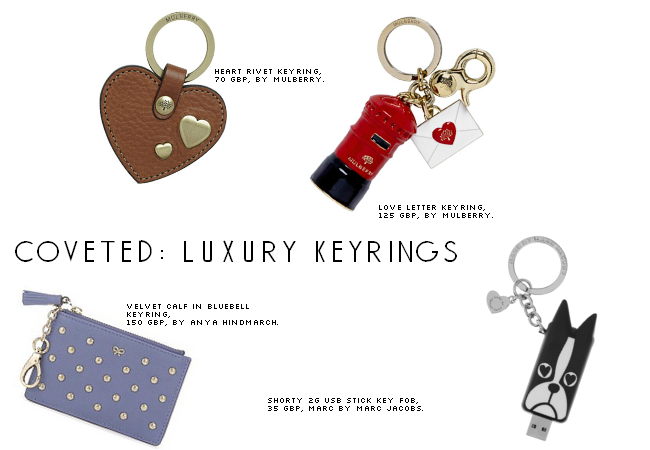 daisybutter - UK Style and Fashion Blog: accessories, keyrings, wishlist, coveted, anya hindmarch, marc jacobs, mulberry, SS13
