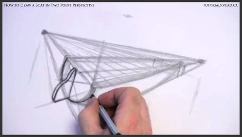 learn how to draw a boat in two point perspective 007