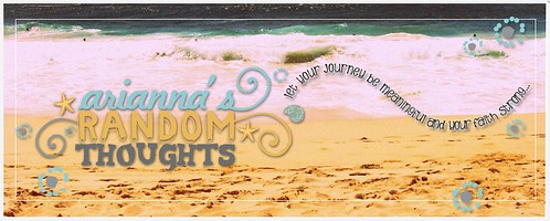 Arianna Random Thoughts blog banner, Hawaii beach
