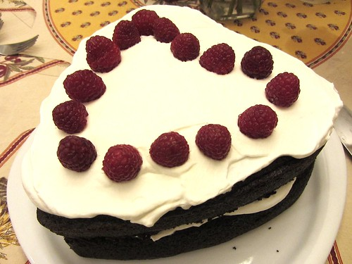 Wellesley fudge cake w/ whipped cream