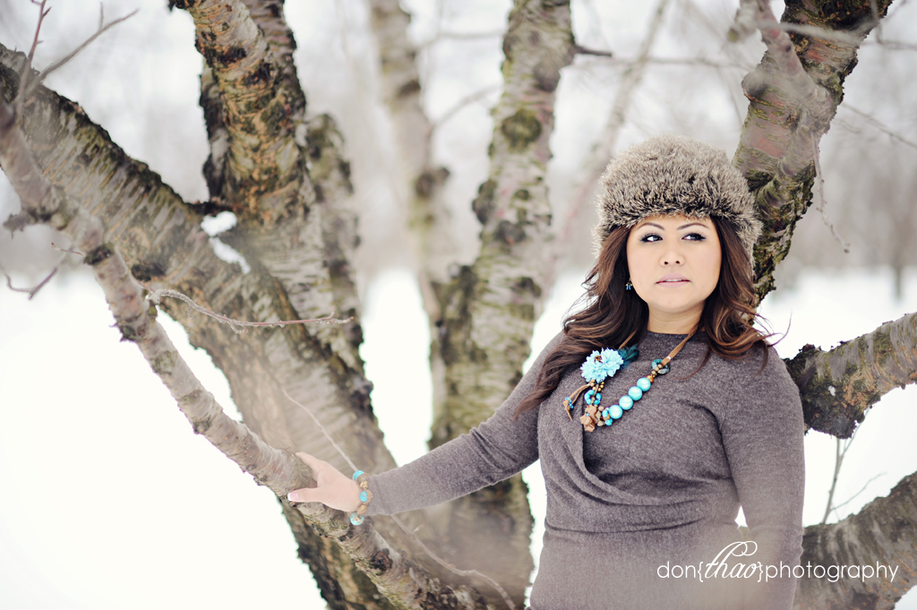 snow, winter portrait session at Robinettes Apple Haus, Grand Rapids, Michigan